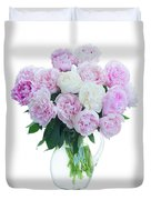 Vase Of Peonies Duvet Cover