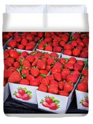 Fresh Picked Strawberries Duvet Cover