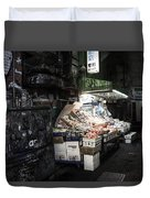 Fresh Produce In A Dark Alley Duvet Cover