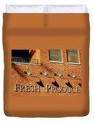 Fresh Produce Signage Duvet Cover