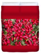 Fresh Red Radishes Duvet Cover