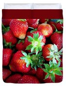 Fresh Ripe Perfect Strawberry Duvet Cover