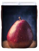 Fresh Ripe Red Pear Duvet Cover