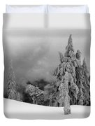 Fresh Snow On The Trees Duvet Cover