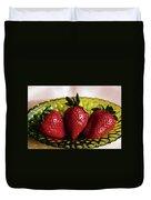 Fresh Strawberries Duvet Cover