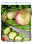 Fresh Vegetables Duvet Cover