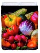 Fresh Vegetables In Lovely Basket Duvet Cover