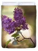 Fresh Violet Lilac Flowers Duvet Cover