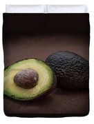 Fresh Whole And Half Avocado Duvet Cover