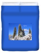 Fresh Winter Solitude Duvet Cover