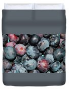 Freshly Picked Blueberries Duvet Cover