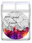 Fresno California 14rd Duvet Cover