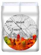 Fresno California 15rd Duvet Cover