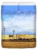 Fresno County Pastoral Duvet Cover