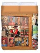 Frida Kahlo Display Picts Duvet Cover