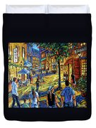 Friday Night Walk Prankearts Fine Arts Duvet Cover