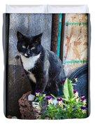 Friday The Cat Duvet Cover