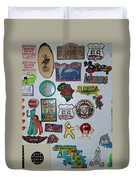 Fridge Magnets Duvet Cover