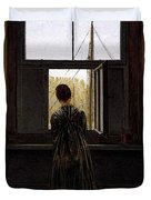 Friedrich Caspar David Woman At A Window Duvet Cover