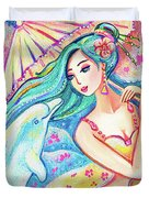 Friends Of The East Sea Duvet Cover
