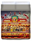 Fries Nachos Dogs Duvet Cover