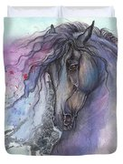 Friesian Horse 2015 12 24 Duvet Cover