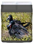 Frigatebirds In Love Duvet Cover