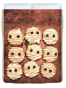 Frightened Mummy Baked Biscuits Duvet Cover