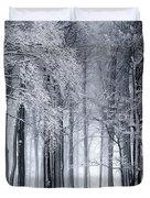 Frigid Forest Duvet Cover