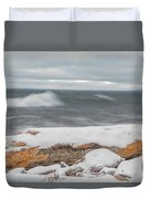 Frigid Waves Duvet Cover