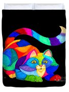 Frisky Cat Duvet Cover
