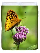 Fritillary Butterfly And Flower Duvet Cover