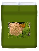 Fritillary On Flower Duvet Cover