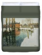Frits Thaulow    A Chateau In Normandy Duvet Cover