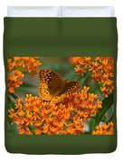 Frittalary And Milkweed Duvet Cover