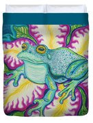 Frog And Flower Duvet Cover