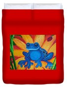 Frog And Lady Bug Duvet Cover