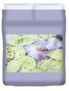 Frog And Lily Pads Duvet Cover