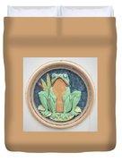Frog Ceramic Plaque Duvet Cover