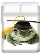 Frog Graduate Duvet Cover