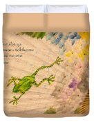 Frog - Haiku Duvet Cover