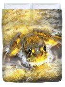 Frog In Deep Water Duvet Cover