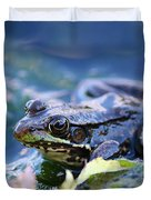 Frog In Water Duvet Cover