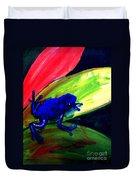 Frog On Leaf Duvet Cover
