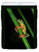 Frog Pole Vault  Duvet Cover