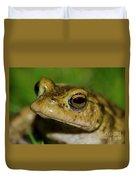 Frog Posing Duvet Cover