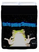 Frog  You're Getting Sleeeeeeepy Duvet Cover