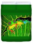 Froggie Trio Duvet Cover