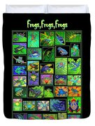 Frogs Poster Duvet Cover