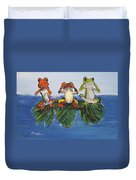 Frogs Without Sense Duvet Cover